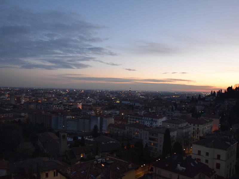 Veduta panoramica di Bergamo Bassa dalle Mura Venete