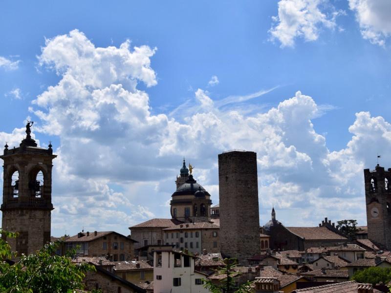 Bergamo Alta vista dalla Rocca