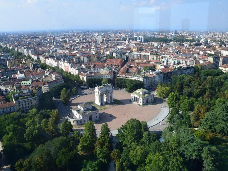Veduta panoramica dalla Torre Branca