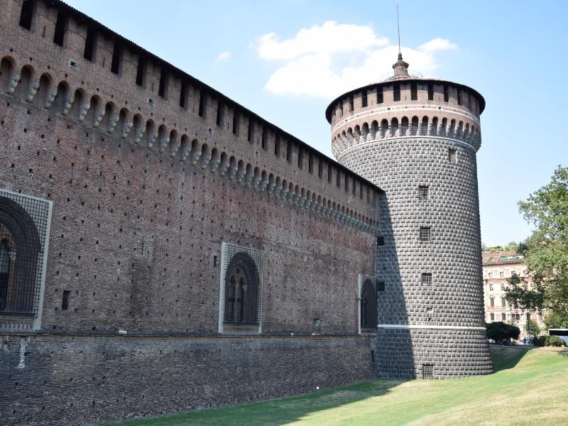 Castello Sforzesco, torre del Carmine