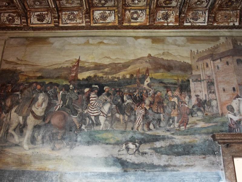 Cavernago, Castello di Malpaga, affresco sala dei banchetti