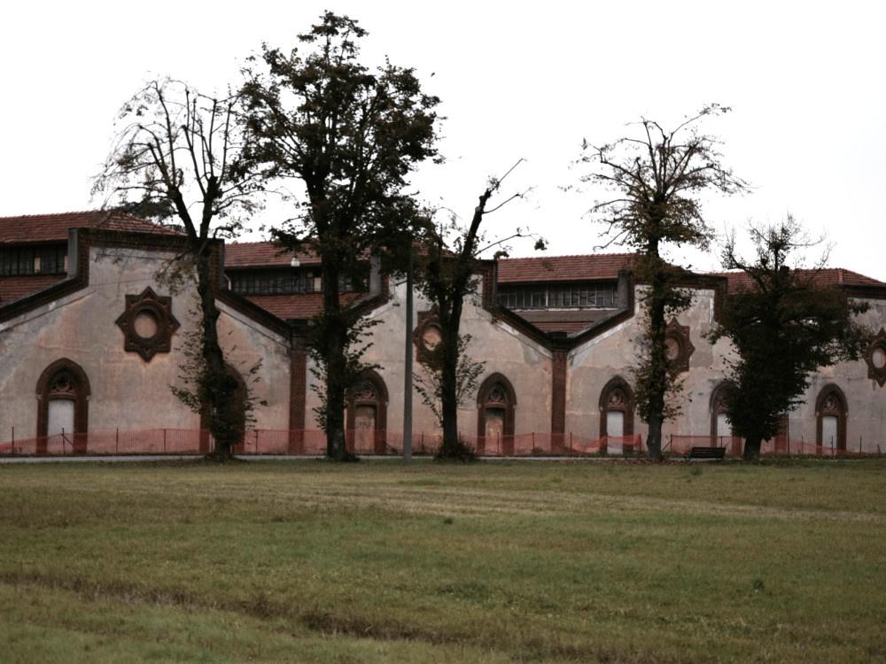 Villaggio Operaio di Crespi d'Adda, particolare edificio fabbrica
