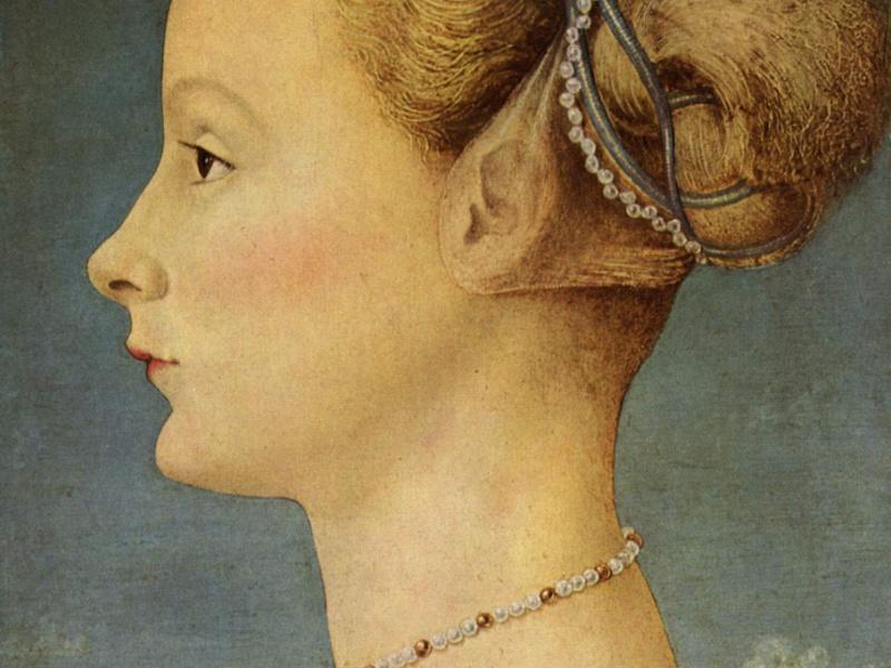 Piero Pollaiolo - Ritratto di Dama (dettaglio)