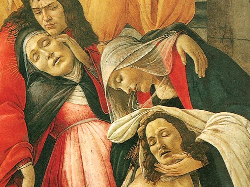Sandro Botticelli - Compianto di Cristo morto (dettaglio)