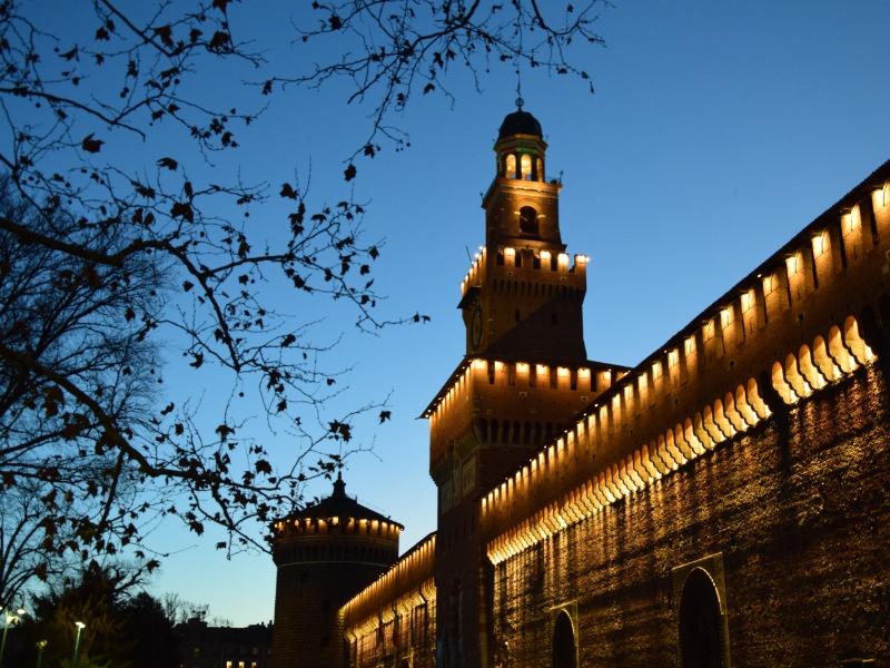 Castello Sforzesco, facciata con Torre del Filarete