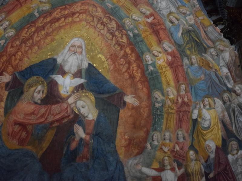 Basilica di San Simpliciano, dettaglio dell'affresco nel catino absidale