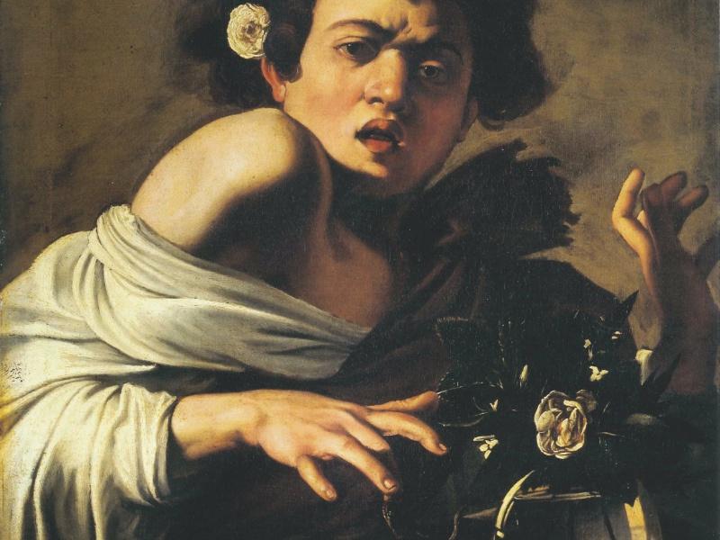 Michelangelo Merisi detto Caravaggio - Ragazzo morso dal ramarro (particolare)